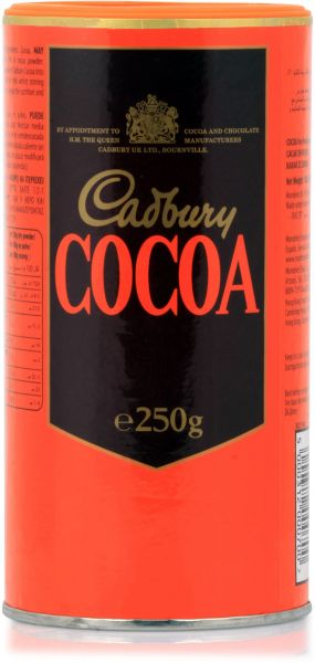 Cadbury's Pure Cocoa Powder Tin 250gm - مسحوق الكاكاو