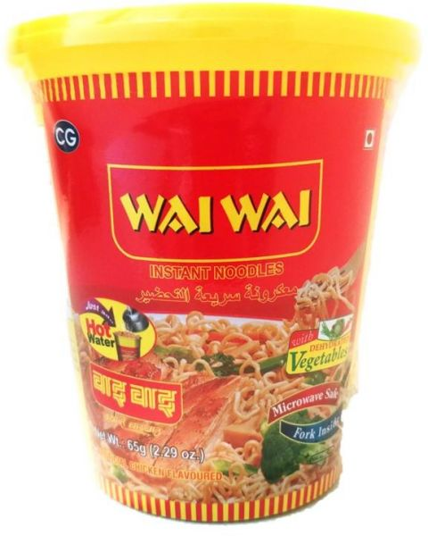 WAI WAI INSTANT NOODLES CUP CHICKEN FLAVOURED 65GM