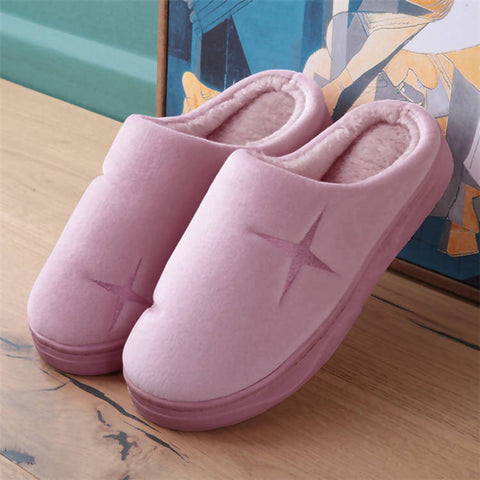 New style Winter Indoor house Cute star Cotton Slippers Slippers - MarkeetEx