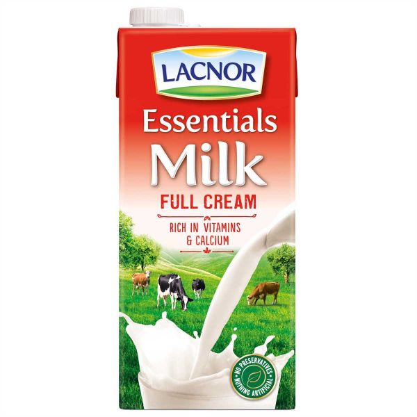 Lacnor Essential Milk Full Cream 1Ltr - حليب كامل الدسم