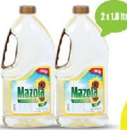 Mazola Sunflower Oil 2x1.8Ltr @20%Off