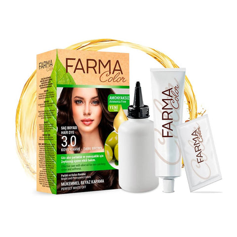 FARMASI FARMACOLOR EXPERT HAIR DYE 3.0 DARK BROWN