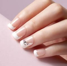imPRESS One Step Gel Manicure French with Crystals