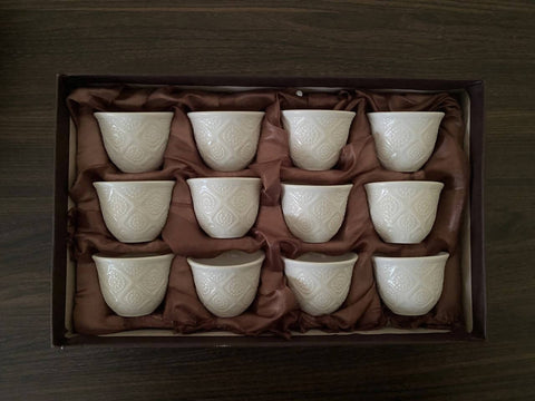 White Coffee Cup 12pcs - MarkeetEx