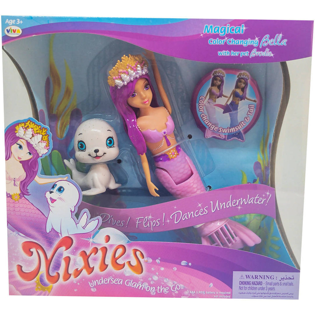 LIL FISHY'S Nixies Magical Color Changing Bella With Pet 3+Age - MarkeetEx