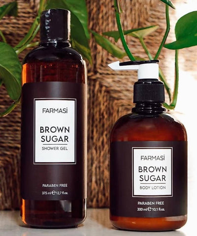 BROWN SUGAR SHOWER GEL 375 ML & BODY LOTION 300 ML - MarkeetEx