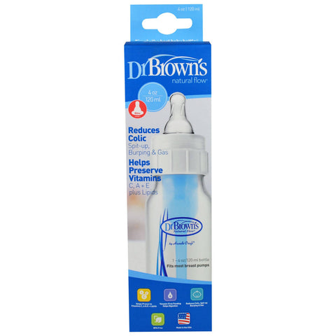 Dr. Brown's, Natural Flow Bottle, Level 1, 0 + Months, 4 oz (120 ml) - MarkeetEx