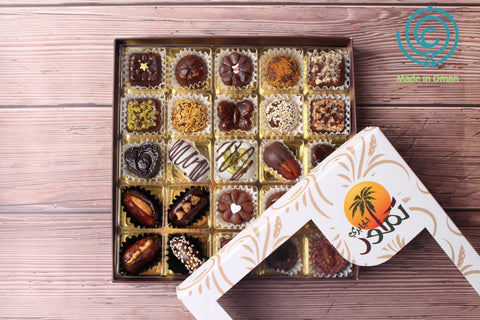 Omani Dates with Different Flavors - 25Pcs - MarkeetEx