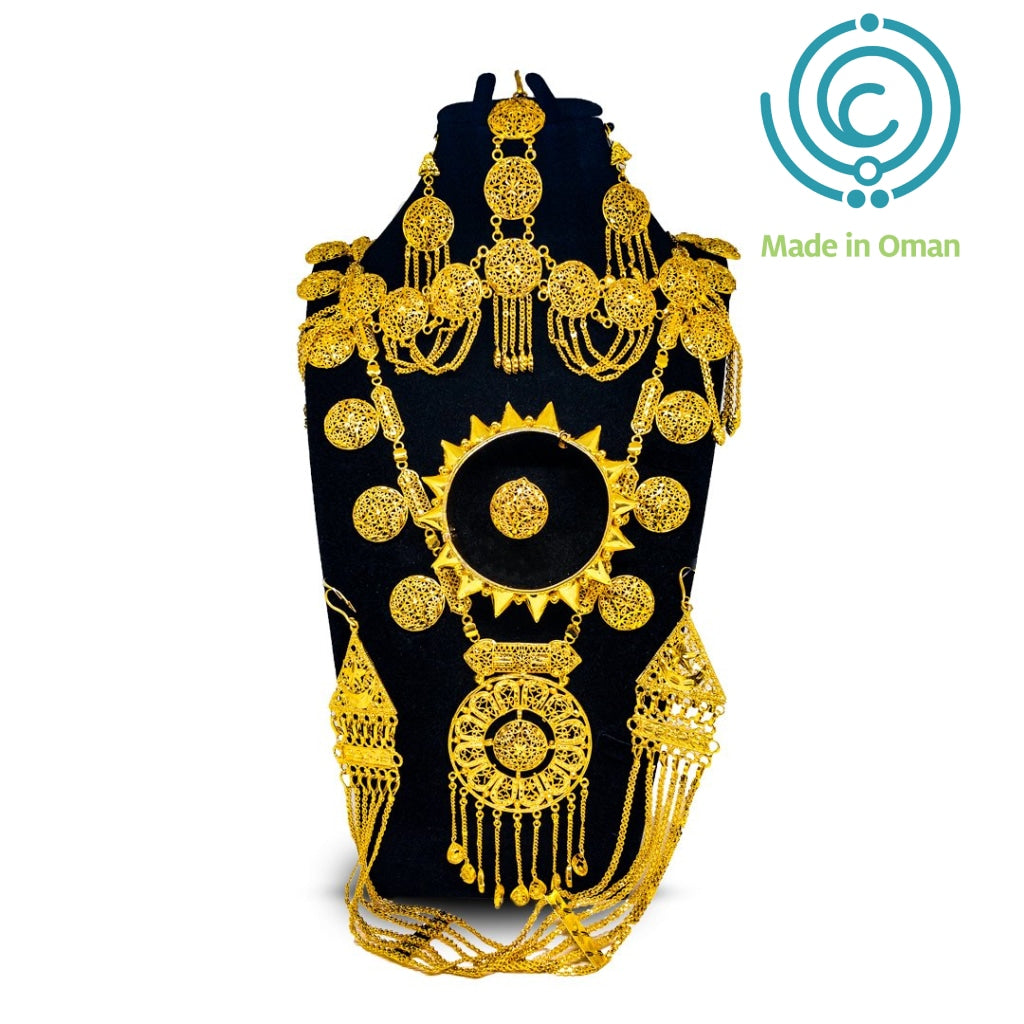 Omani Traditional Gold Set - Replica Design #2 - MarkeetEx