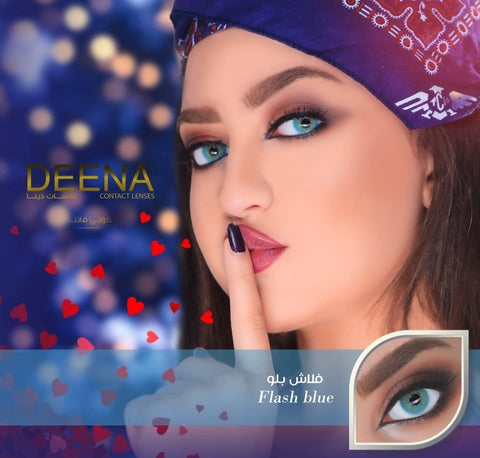 DEENA LENSES FLASH BLUE عدسات دينا فلاش بلو