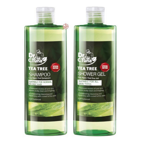 DR C TUNA TEA TREE SHAMPOO + SHOWER GEL 225 ML