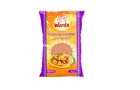 Warda Medium Whole Wheat Couscous 1 KG
