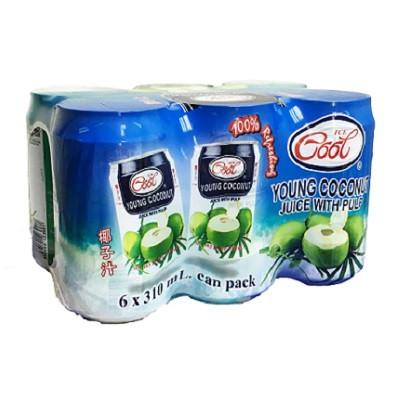 Ice Cool Young Coconut Juice wt Pulp 6pcs X 310ml Pack