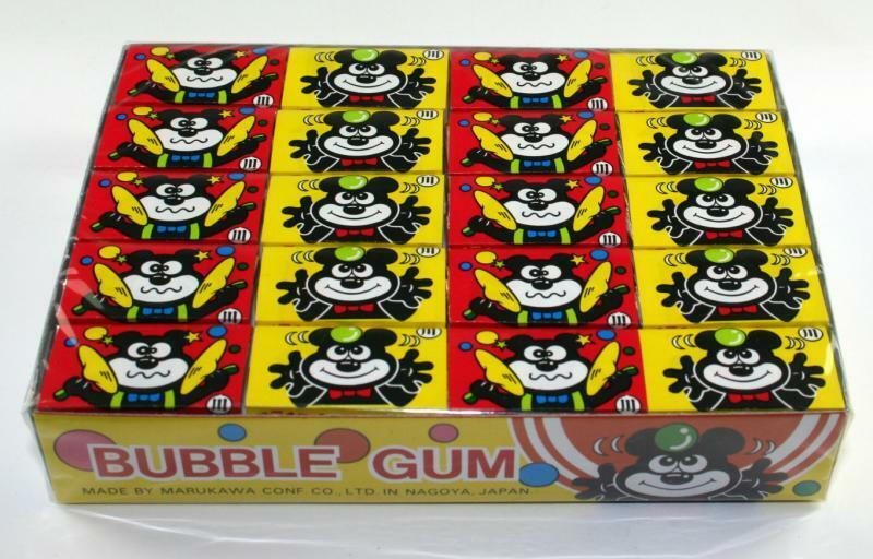 Marukawa Fusen Chewing Bubble Gum, Strawberry, 60 Pcs Pack