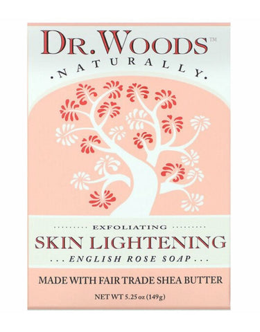 DR. WOODS : English Rose Soap, Exfoliating Skin Lightening, (149 g) - MarkeetEx