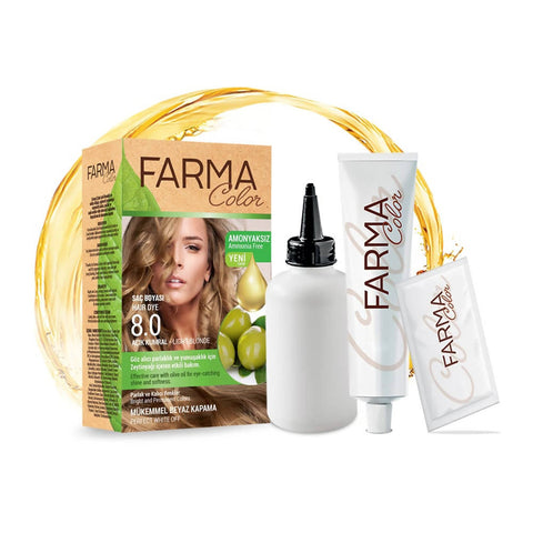 FARMASI FARMACOLOR EXPERT HAIR DYE 8.0 LIGHT BLONDE