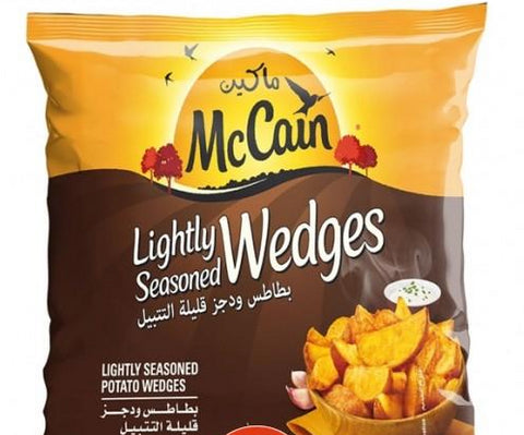 MCCAIN LIGHTLY SEASONED WEDGES 750gm
