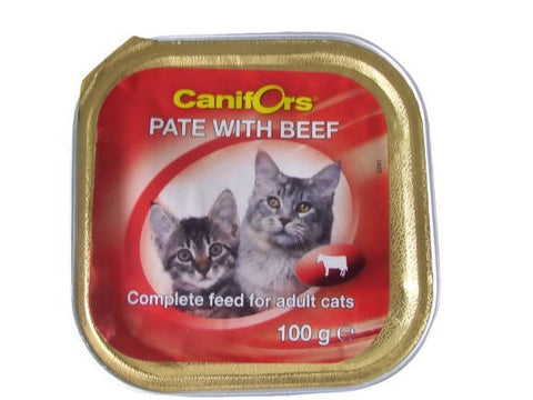 Canifors - Cat : Pate with Beef 100 GM - MarkeetEx