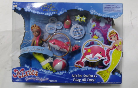 LIL FISHY'S Nixies Dancing Dolphins Play Set 3+Age - MarkeetEx