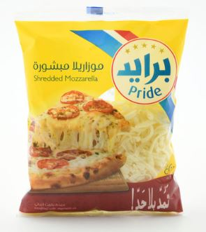 Pride Shredded Mozzarella Cheese 200g