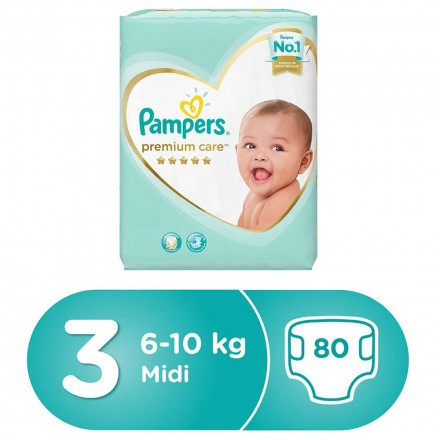 PAMPERS PREMIUM CARE STAGE 3 - 80 Diapers - MarkeetEx