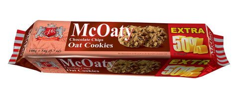 GPR McOaty Chocolate Chips Oat Cookies - 162 GM - MarkeetEx