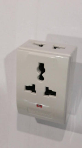 MULTI SOCKET - W506M - 13A 3Way Multi Function Adaptot+Neon