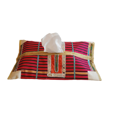 Stripped Tissue Case Omani 46 CM * 38 CM - MarkeetEx