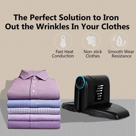 New Folding Portable Iron Mini Collar Iron Electric Mini Iron With Double Ironing 6 Heat Settings Flip-Out Wings Functions for Household Dorm Room Crafting Travel Business Trip Collar Accessories - MarkeetEx