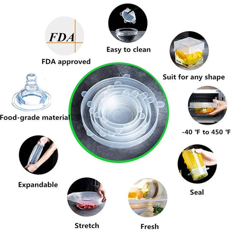 (New Arrival 2021) Original 100% Silicone Fresh Food Covers - MarkeetEx