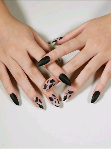 Cow Print Nails - MarkeetEx