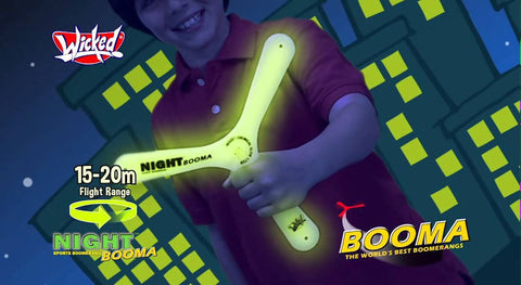 WICKED NIGHT BOOMA GLOWS DARK Flight Range 15M - MarkeetEx