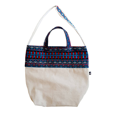 Pink & Blue Laisu Shopping bag - MarkeetEx