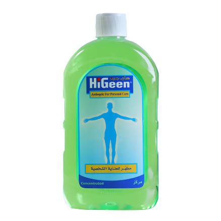 HiGeen Antiseptic for personal care solution 500ml - MarkeetEx