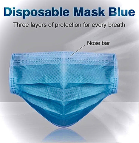 Face Mask - 3ply Non-Woven Disposable 50 pcs - CE approved - MarkeetEx