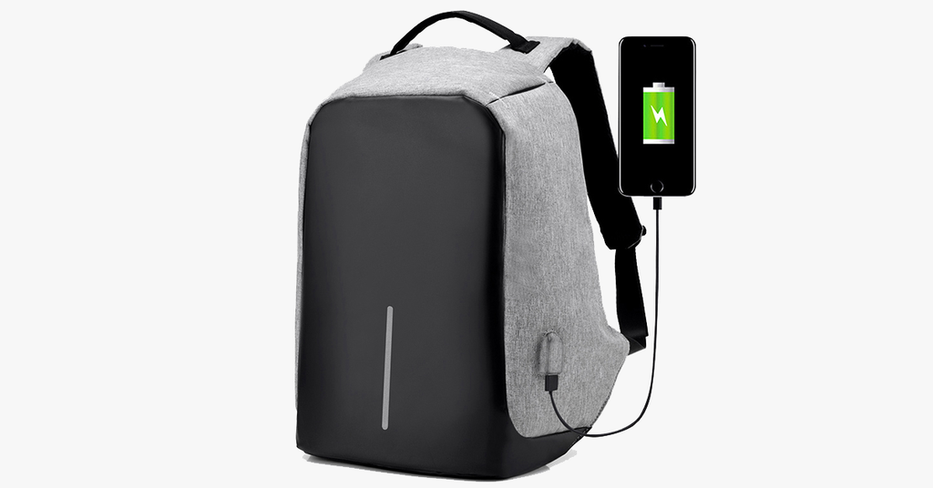 Original USB Charging Anti-Theft Backpack-Shark Find