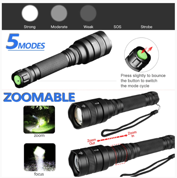 Military Tactical Flashlight (Buy 2 Free Shipping)