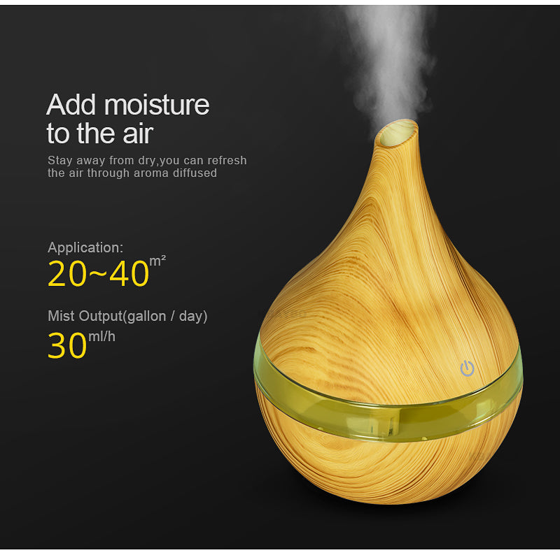 Vintage Ultrasonic Air Humidifier (USB - Touch LED)