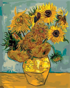 Sunflowers - Van-Go Paint-by-Number Kit-Shark Find