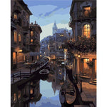 Gondola Night - Van-Go Paint-By-Number Kit-Shark Find