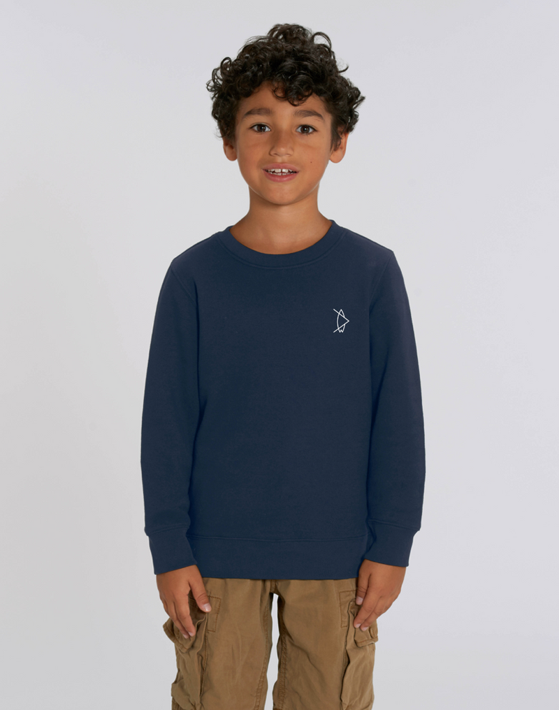 Kids Legacy Crewneck Night Blue