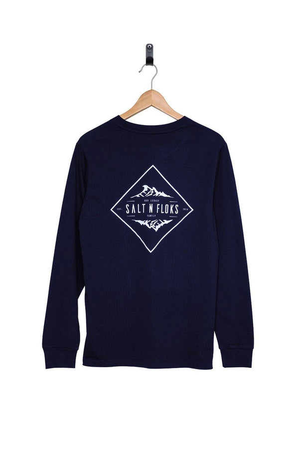 Legacy Longsleeve Night Blue - Salt N Floks