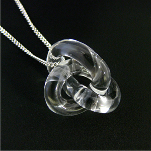 Eternal Knot Clear Pendant