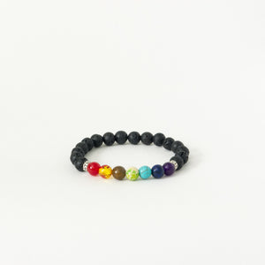 Chakra Lava Rock Oil Diffuser Bracelet. These bracelets feature 7 different color stones that represent the 7 different chakras. The lava rocks are also diffusers for your favorite essential oils. Simply add 1-2 drops of healing oils and wear your bracelet all day. Two styles are available: antiqued brass and silver.