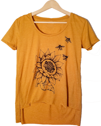 Gold Sunflower & Bees T-shirt