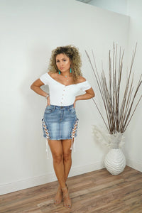 Melinda Denim Skirt