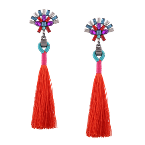 Peacok Tassel Earrings