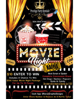 Movie Night Raffle Ticket
