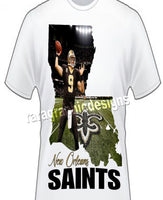 "New Orleans ""Saints""Sublimation Shirt"