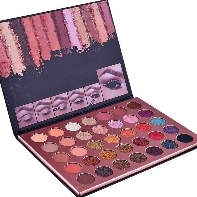 ColorBox Glitter Eye Shadow Palette (35 Colors)